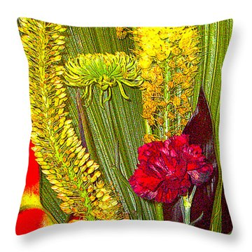 Artistic Floral Arrangement Throw Pillow