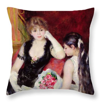 At The Concert Throw Pillow by Pierre Auguste Renoir