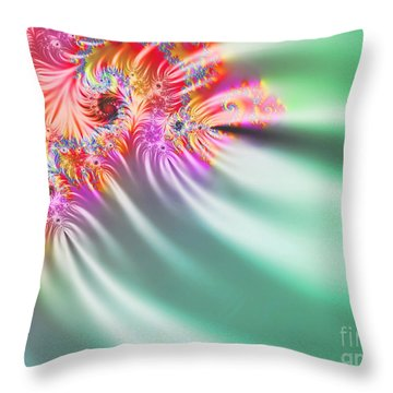 Aurora Color Dreams Throw Pillow by Stefano Senise