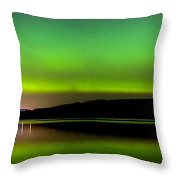 Aurora Over The Beauly Firth Throw Pillow
