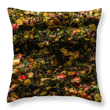 Autumn's Mosaic Throw Pillow by Alana Thrower