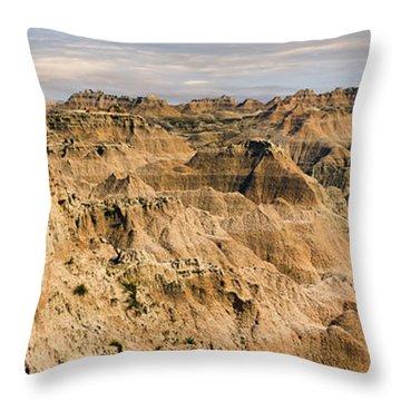 Throw Pillow featuring the photograph  Badlands South Dakota by John Hix