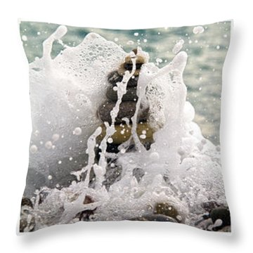 Balance And Energy Throw Pillow by Stelios Kleanthous