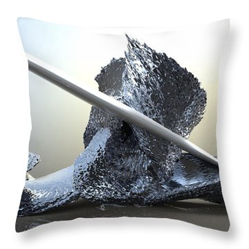 ' Big Blue Wipeout ' Throw Pillow