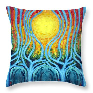 Births Of Day Throw Pillow by Wojtek Kowalski