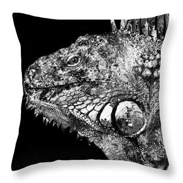 Green Iguana Throw Pillows