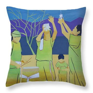 Blessing Sky And Earth Throw Pillow