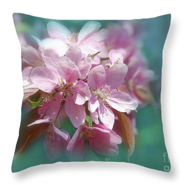Throw Pillow featuring the photograph  Blossoms  by Elaine Manley