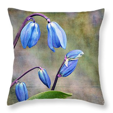 Bluebells And Beyond Throw Pillow