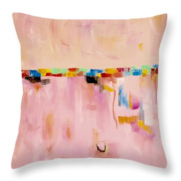 Blush Throw Pillow by Suzzanna Frank