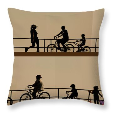 Boardwalk Movement Throw Pillow