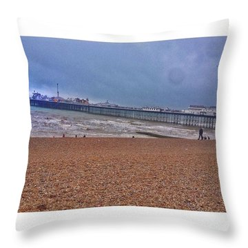 • Brighton Pier Throw Pillow
