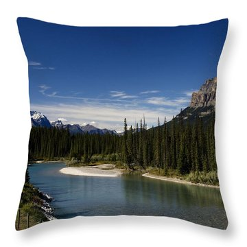 Castle Mountain 1 Throw Pillow