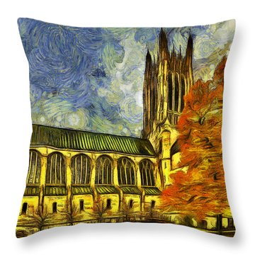 Cathedral Of St. John The Evangelist Throw Pillow