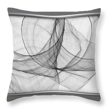 ' Caught In The Gauze Of Life ' Throw Pillow