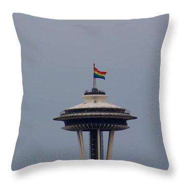 Celebrates Gay Pride  Throw Pillow