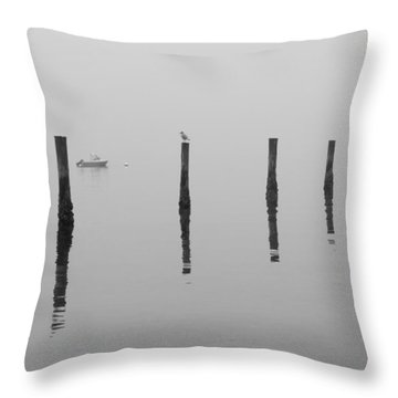 Fog And Reflections Throw Pillow