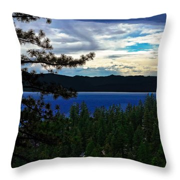 Chrystal Blue Waters Throw Pillow