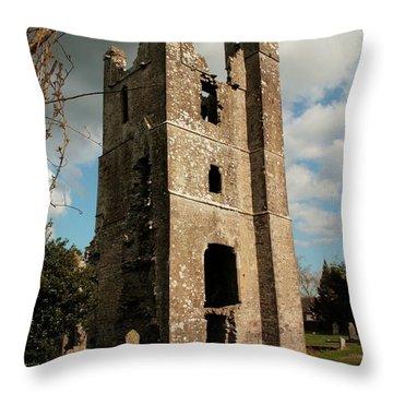Church In Duleek. Throw Pillow by Martina Fagan