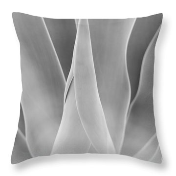 Throw Pillow featuring the photograph Agave Waves   by John F Tsumas