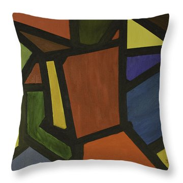 Color Shapes Throw Pillow