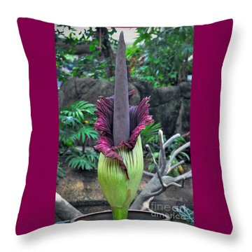 Corpse Flower Throw Pillow