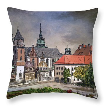 Cracow.world Youth Day In 2016. Throw Pillow