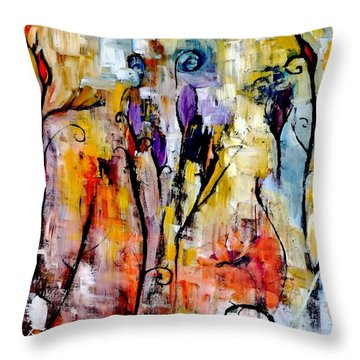 Crazy Messy Fall Yard Art Throw Pillow