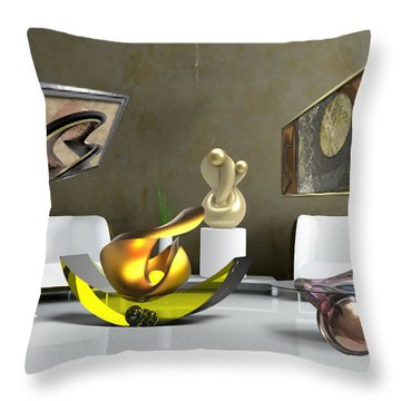 ' Cubrssrs - Tubehumanseedlings - Ball Box Intrigue - Kyscopic Table - Pearl ' Throw Pillow