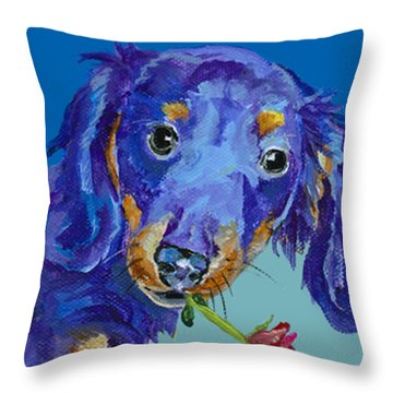 Dach Throw Pillow by Pat Saunders-White