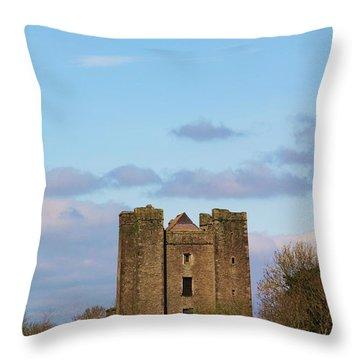 Dunsoghly Castle Throw Pillow by Martina Fagan