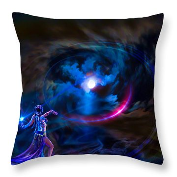 Entrancing The Mystical Moon Throw Pillow