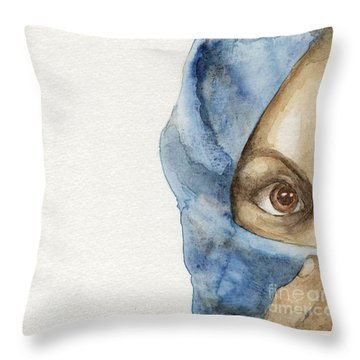 Throw Pillow featuring the painting  Esther by Annemeet Hasidi- van der Leij