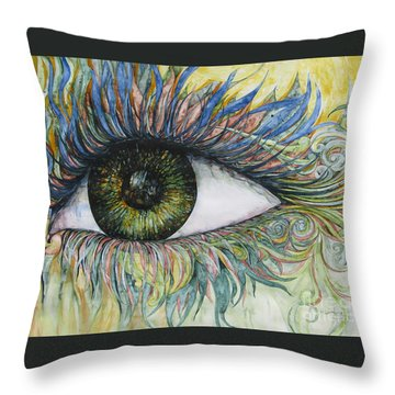 Eye For Details Throw Pillow by Kim Tran