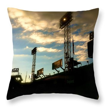 Fenway Lights Fenway Park David Pucciarelli  Throw Pillow by Iconic Images Art Gallery David Pucciarelli