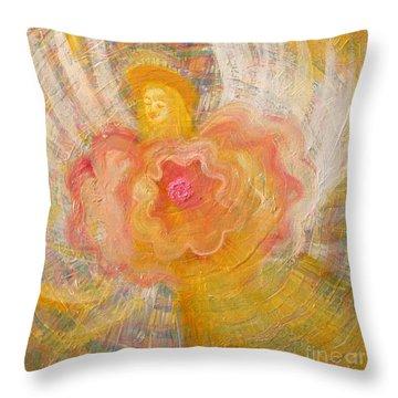 Flower Angel Throw Pillow