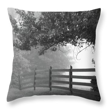 Fog At Dawn Throw Pillow