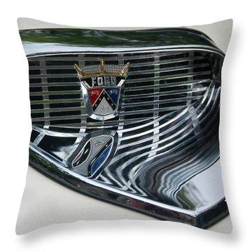 Ford Chrome 13124 Throw Pillow by Guy Whiteley