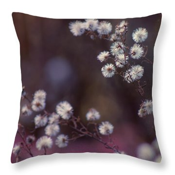 Fuzzy Fall  Throw Pillow by Bulik Elena