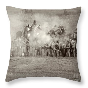 Gettysburg Confederate Infantry 7503s Throw Pillow