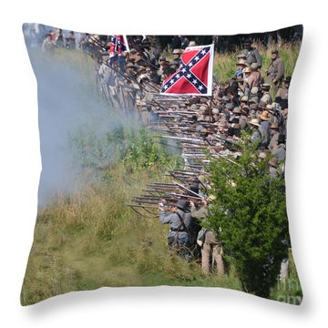Gettysburg Confederate Infantry 8769c Throw Pillow
