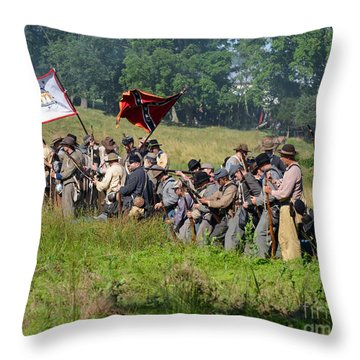 Gettysburg Confederate Infantry 9281c Throw Pillow