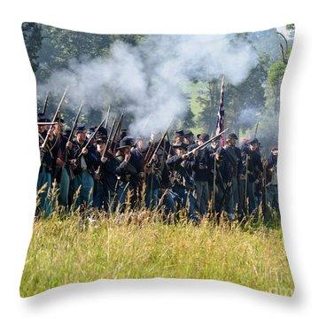 Gettysburg Union Infantry 9360c Throw Pillow
