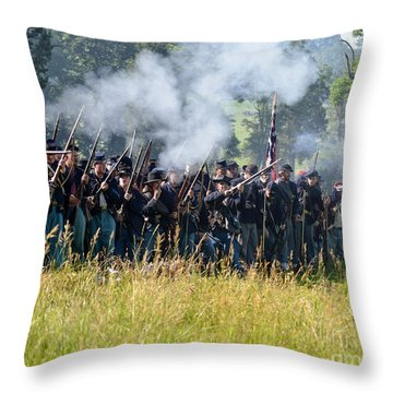 Gettysburg Union Infantry 9360c Throw Pillow
