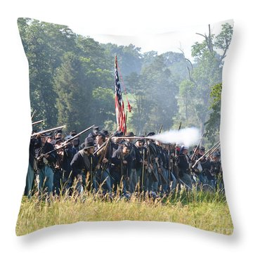 Gettysburg Union Infantry 9372c Throw Pillow