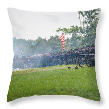 Gettysburg Union Infantry 9968c Throw Pillow