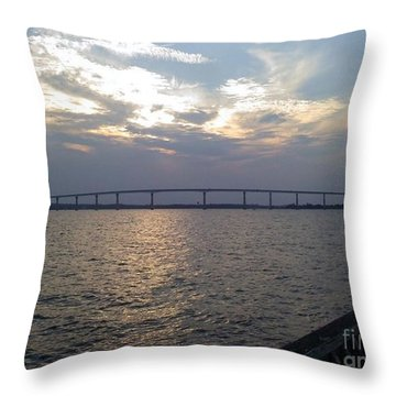 Gov Thomas Johnson Bridge Throw Pillow