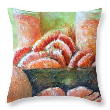 Mandarin Oranges  Throw Pillow