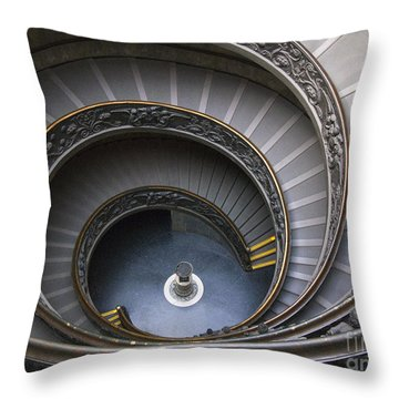 Heart Of The Vatican Museum Throw Pillow by Sandra Bronstein