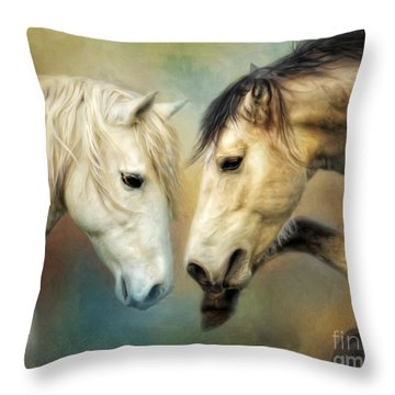 Throw Pillow featuring the digital art  Heat  by Trudi Simmonds